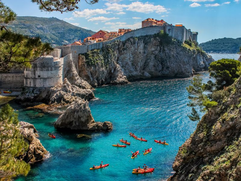 Amusant : faire du kayak autour de Dubrovnik !