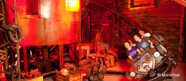 Montagnes russes Van Helsing Factory au Movie Park en Allemagne